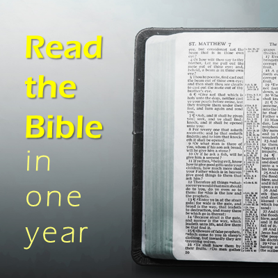 Read the Bible in one year 400 x 400